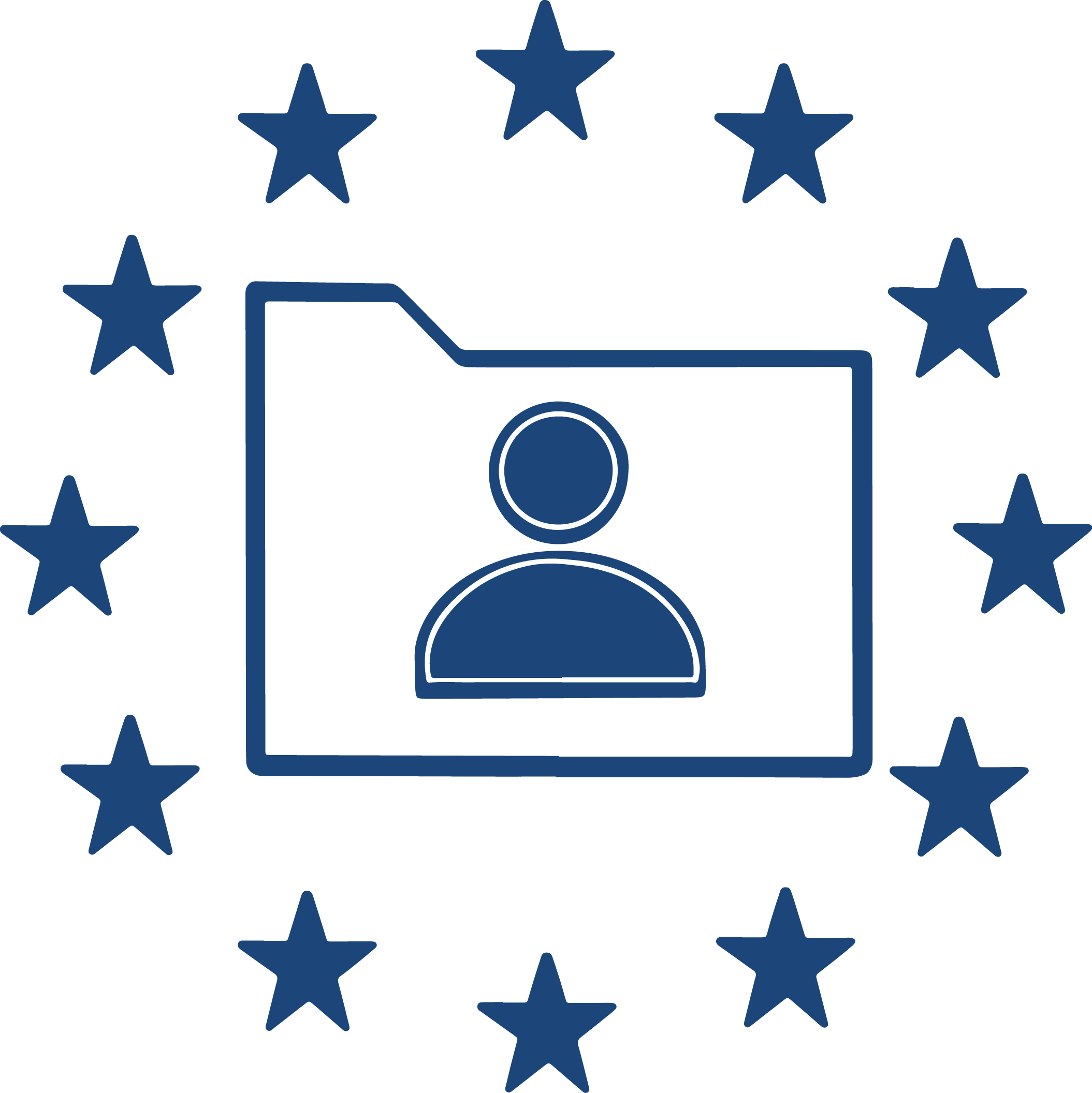 Processing of data inside the EU icon